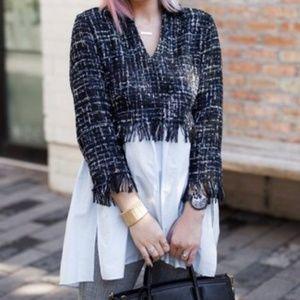 COMING SOON! Zara Tweed and Cotton Tunic Top